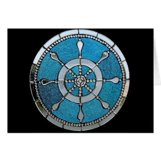 Ships Wheel Stained Glass Notecard