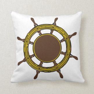 Ship's Wheel Throw Pillow