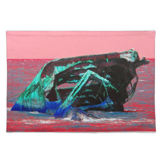 Shipwreck Abstract pink Place Mats
