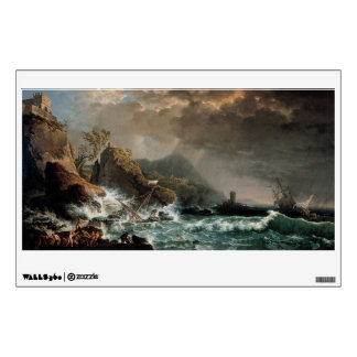 Shipwreck in a Rocky Inlet Wall Sticker