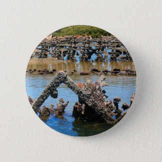 Shipwreck in the mangroves 2 inch round button