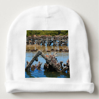 Shipwreck in the mangroves baby beanie