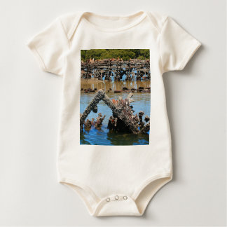 Shipwreck in the mangroves baby bodysuit