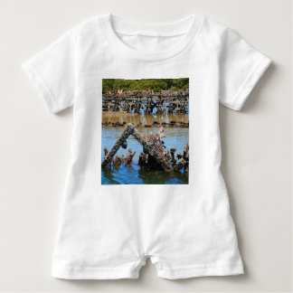 Shipwreck in the mangroves baby romper