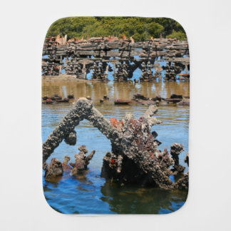 Shipwreck in the mangroves burp cloth
