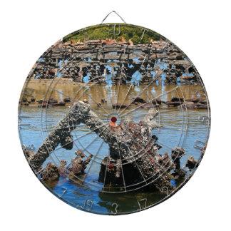 Shipwreck in the mangroves dartboard