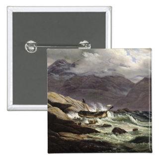 Shipwreck on the Norwegian Coast, 1831 2 Inch Square Button