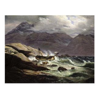 Shipwreck on the Norwegian Coast, 1831 Postcard