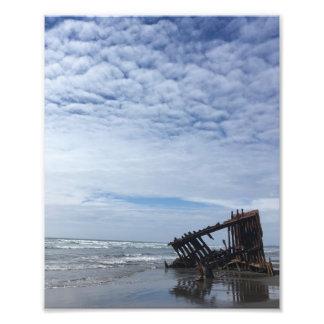 Shipwreck on the Oregon Coast Photo Print