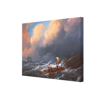 Shipwreck Survivors on a Raft Canvas Print