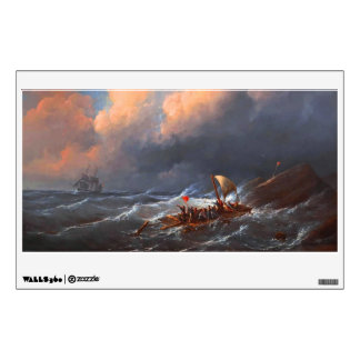 Shipwreck Survivors on a Raft Wall Sticker