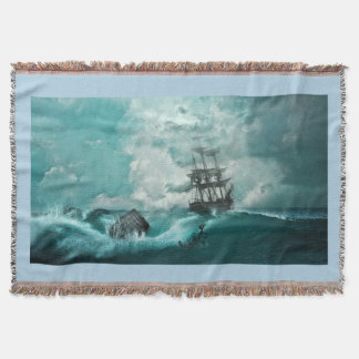 Shipwreck Throwblanket Throw Blanket