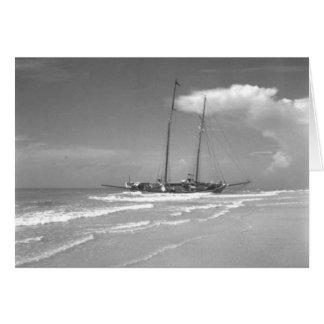 Shipwrecked Cuban Smack, Marco Island, Florida Card