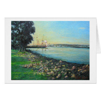 Shipyard in Alexandria Card