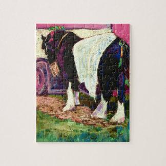 'Shire Horse' Fine Art Soft Pastel Painting Puzzles