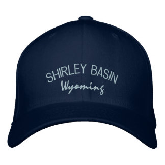 Shirley Basin Wyoming Embroidered Hat