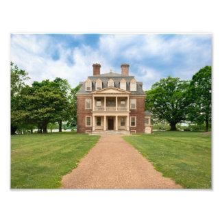 Shirley Plantation - Great House Photographic Print