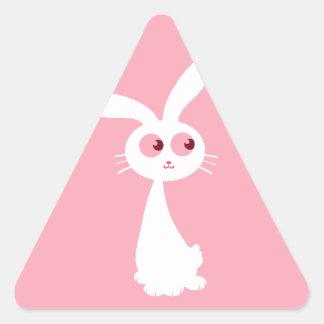 Shiro Bunny III Triangle Sticker