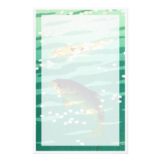 Shiro Kasamatsu Karp Koi fish pond japanese art Stationery