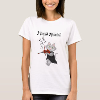 Shirt Cute Cats Love Music Musical Violin