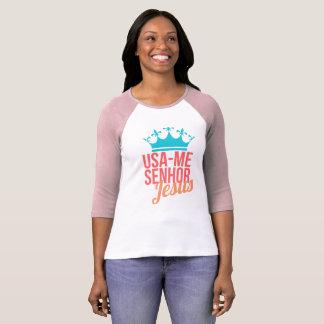 Shirt Femenina/USA me Mr. Jesus