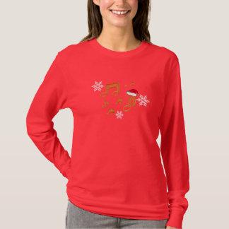 Shirt - Music Notes Santa Christmas