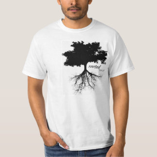 """Shirt (""""rooted"""" with tree silhouette)"""