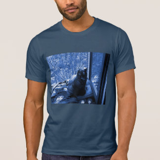 Shirt with Photo of Fluffy Cat + Spiny Digital Art