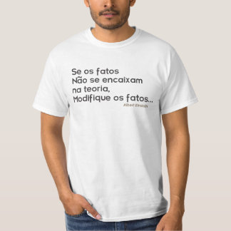 Shirt with sentence