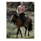 Shirtless Putin Rides a Horse Postcard