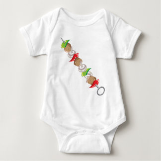Shish Kabob vector Illustration clip-art Baby Bodysuit