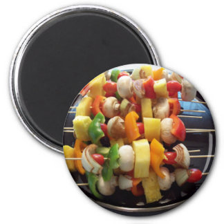 Shish Kebob 2 Inch Round Magnet