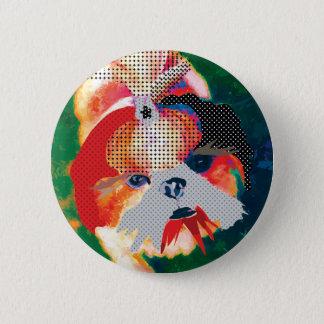Shitzu mania 2 inch round button