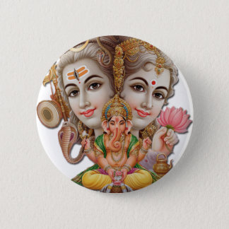 Shiva and family 2 inch round button