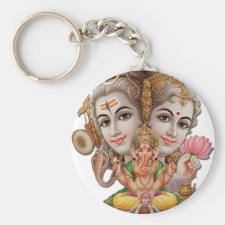 Shiva and family keychain