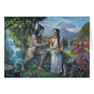 Shiva and Parvati - The All-Auspicious Couple Card