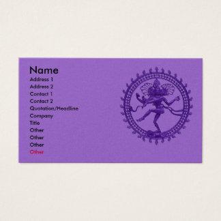 Shiva dance business card
