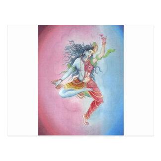 Shiva -dancingpose postcard