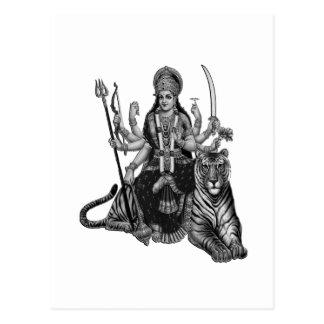 Shiva Goddess Postcard