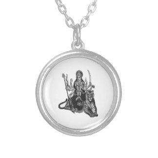 Shiva Goddess Silver Plated Necklace