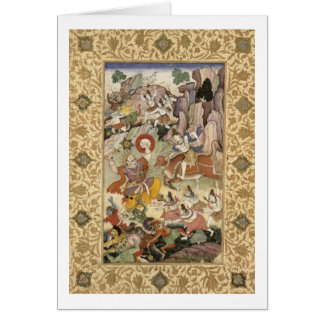 Shiva killing the Demon Andhaka, c.1585-90 Card