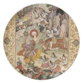 Shiva killing the Demon Andhaka, c.1585-90 Party Plate