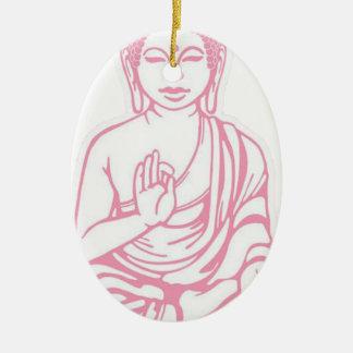 Shiva Let it go Ceramic Oval Ornament