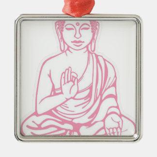 Shiva Let it go Silver-Colored Square Ornament