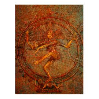 Shiva On Distressed Background Overlay Postcard