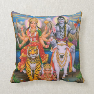 Shiva Parvati Ganesha pillow