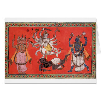 Shiva Performing The Dance Of Bliss Card