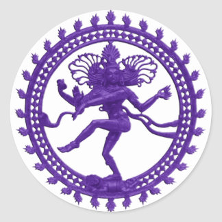 Shiva the Cosmic Dancer Classic Round Sticker