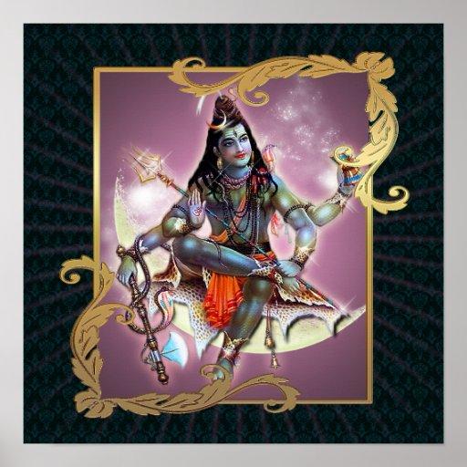 Shiva - Vintage Moss - Poster