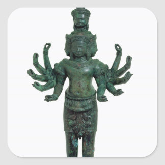 Shiva with many arms and heads, Angkor Square Sticker